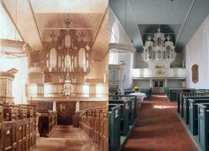 Früher und Heute - Innenansicht der Kirche
