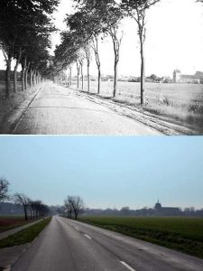 Straße von Manslagt nach Groothusen